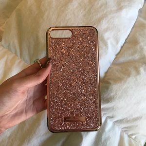 iPhone 7+ rose gold glitter case